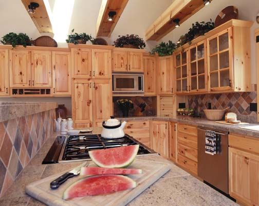 Knotty Pine Cabinets Auburn Custom Kitchens Cabinets