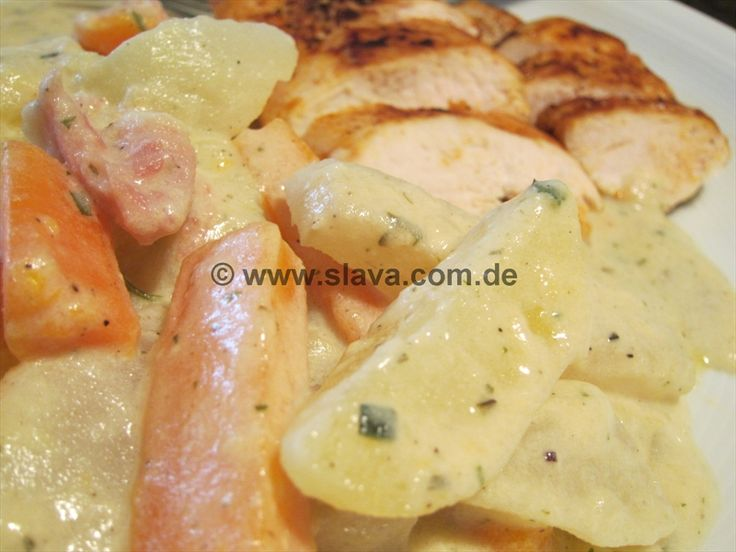 Ruck-Zuck Kohlräbchen-Kartoffel-Pfanne auch WW geeignet « kochen & backen leicht gemacht mit Schritt für Schritt Bilder von & mit Slava