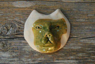 Ceramiczna głowa kota na desce - Baja Śliwa - Zakupy wg Autorów