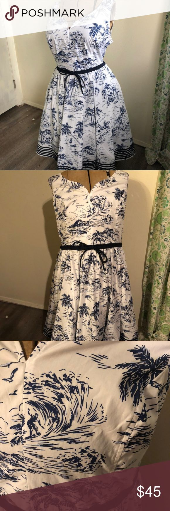 Tropical Toile Vintage Style Sleeveless Dress such a pretty 50s style fit and fl… – My Posh Picks
