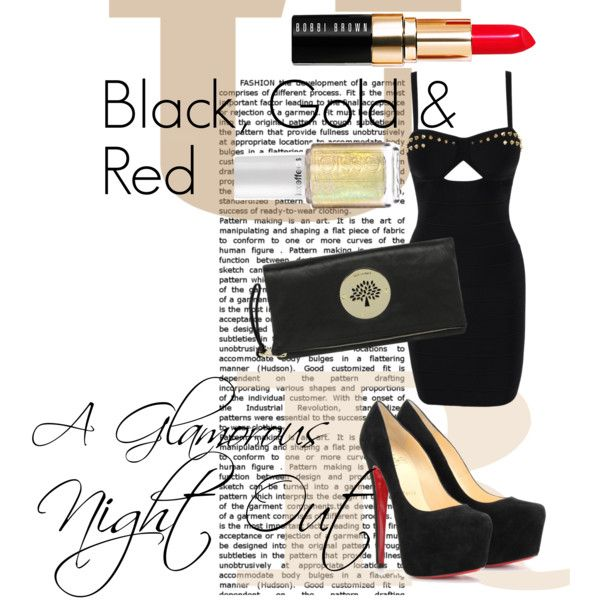 """Black, Gold & REd"" by tobiashansen on Polyvore"