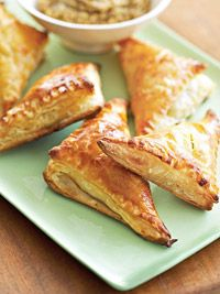 The ham and cheese filling is wrapped in flaky, golden phyllo dough for these savory appetizers.