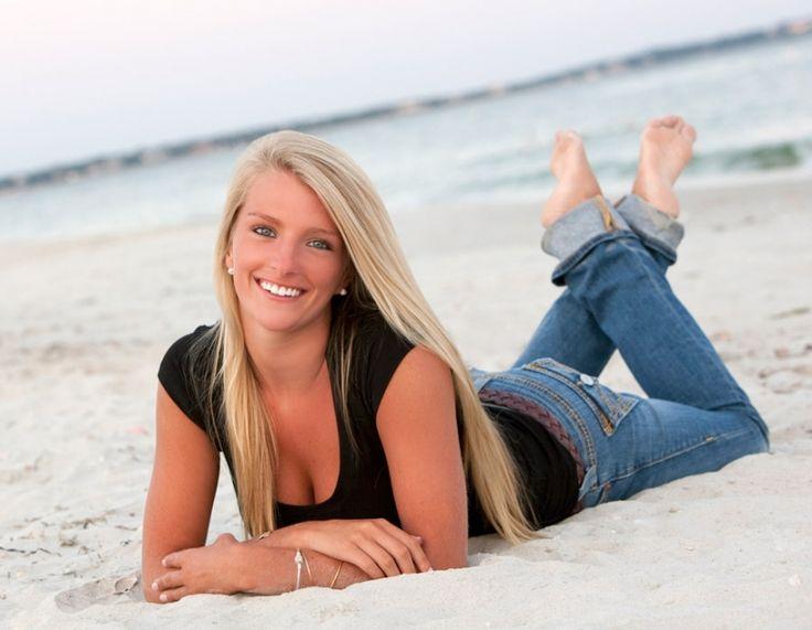 Cute senior photo on the beach. Fun angle. Gorgeous senior girl portrait. Cape Cod Senior Photo.