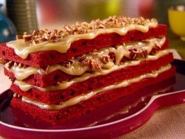 Sunny Anderson's Grandma's Red Velvet Cake -closest I've found to the recipe I love (also from North Carolina)