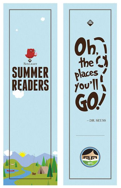 great bookmark design by dave lilly for the sonlight curriculum summer reading packages