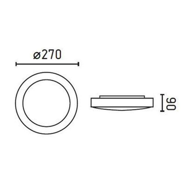 Plafonnier Salle de bain blanc IP 44 LOGOS-1  - FARO - 62965