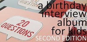 20 Questions Birthday Album.  What a wonderful idea!