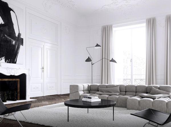 Стильный черно-белый интерьер парижской квартиры | Дизайн интерьера, декор, архитектура, стили и о многое-многое другое. Say What?!