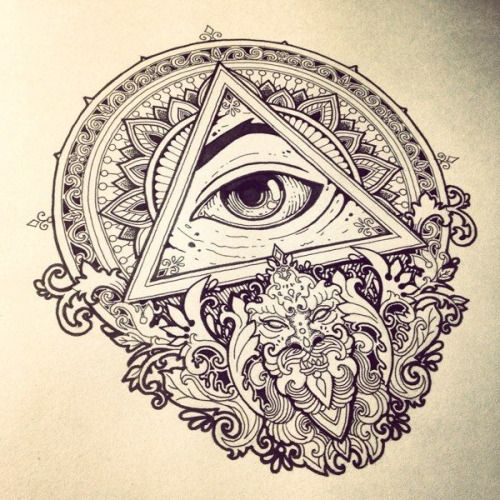 All Seeing Eye Tattoo On Neck photo - 1