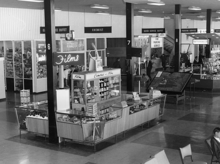Essendon Airport terminal in the 1960's