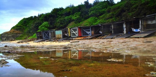 Another angle of the boat sheds at Sandon Point - great for pics!