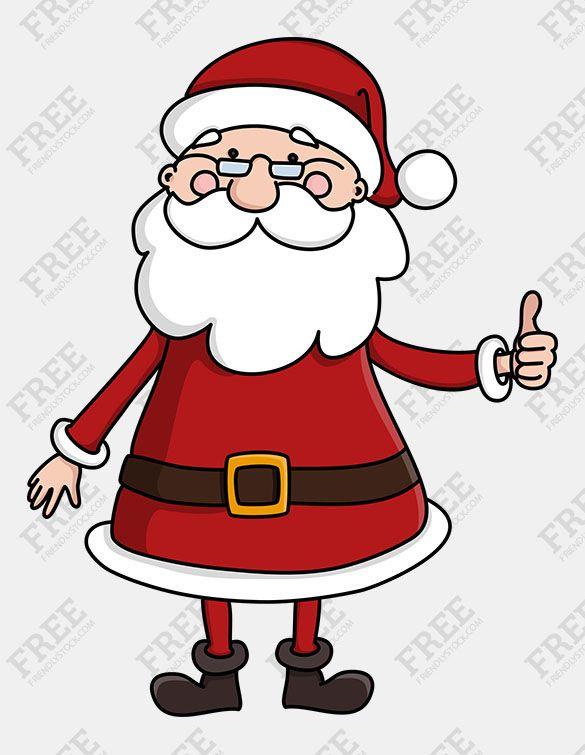 Free Graphics Cute Santa Claus Character Friendlystock Free Graphics Free Vector Illustration Clip Art