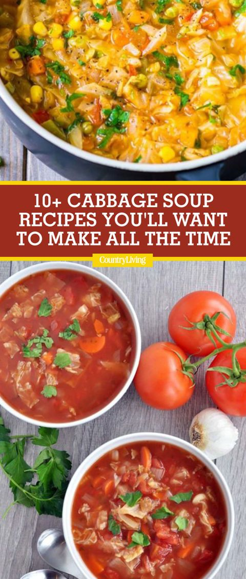 Save these cabbage soup recipes for later by pinning this image, and follow Country Living on Pinterest for more.