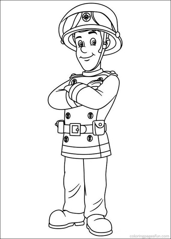 fireman sam coloring pages 33jpg 571800 - Firefighter Coloring Pages