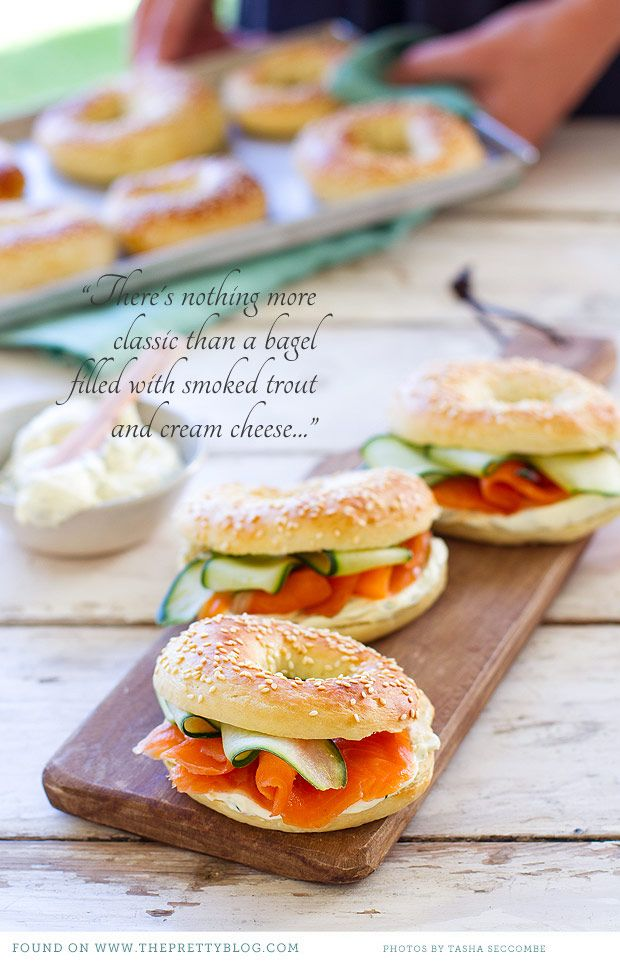 Bagels with Cold-Smoked Trout {Recipe} | {Be Inspired, Food} | The Pretty Blog