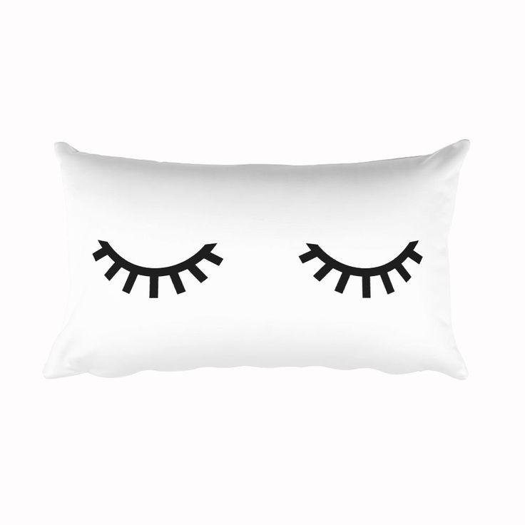 Eyelashes Cushion, Pillow, Home Decor, 20x12 inch by CozyDesignCo on Etsy