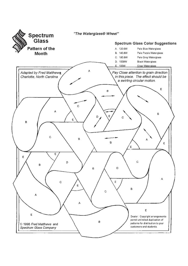 Stained Glass Spectrum Pattern ~ Tangle This! Stained glass patterns make great strings