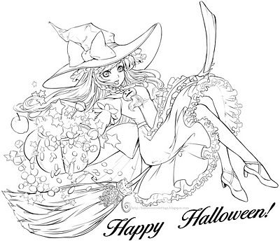 Hundreds of Halloween coloring pages all on one site and in categories such as bats, vampires, witches, Disney, etc