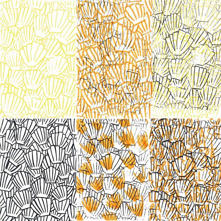 Sea Shells prints, Ninon Petras