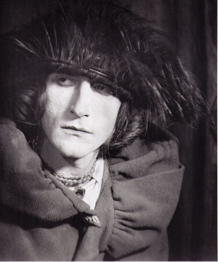 Marcel Duchamp, 1921, dressed as his female alter ego Rrose Sélavy. Photo by Man Ray.