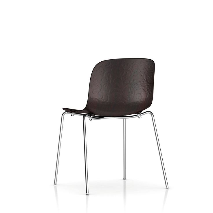 Magis, TROY CHAIR IN WOOD, Marcel Wanders, 2010. The Troy Wood Chair's frame is steel and comes in a selection of finishes. The beech seat is available in a variety of neutral stains that coordinate with the paint choices for the frame. Our offer is for the chair with chromed steel frame and seat in wing stained.