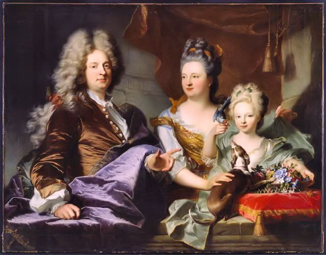 Hipsteroscopy — Portrait of Jean Le Luge and his family, 1699....