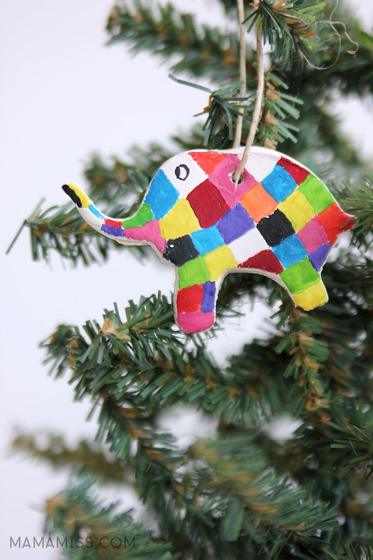 Painted Elmer Ornament 10 Days of 13