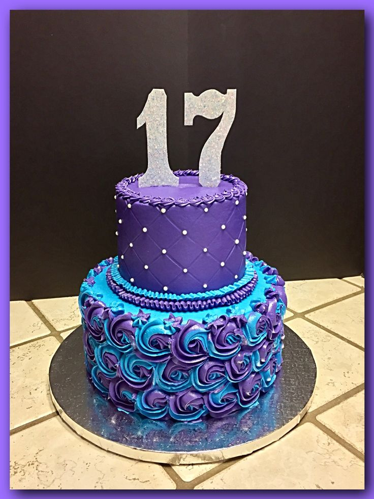Purple And Turquoise Quilted Rosette Cake The Great