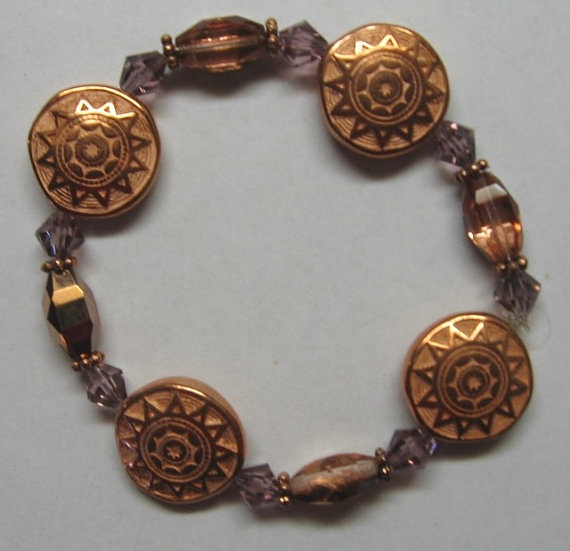 Copper Coin Bracelet by treasuresbycathy on Etsy, $9.95