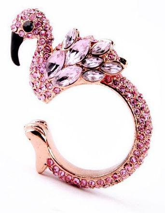 Flaming Flamingo Ring