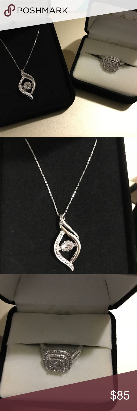 34e758316 Kay bundle Get both the necklace and the ring both sterling silver ring  diamond and necklace