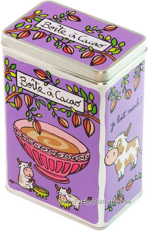 Plåtburk Kakao lila