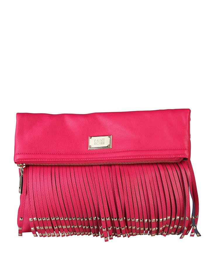 Cavalli class - pochette - chiusura magnetica e con zip - una tracolla amovibile - taschino interno con zip - composizio - Pochette donna Rosa