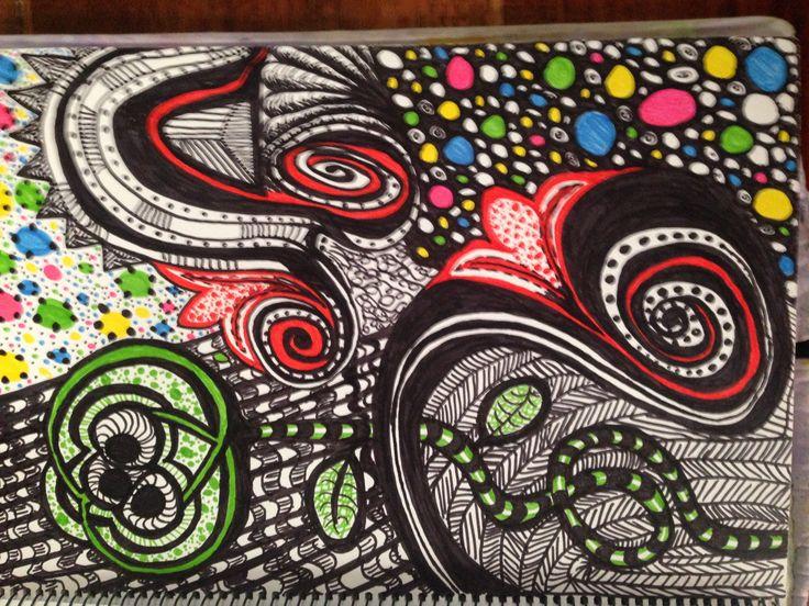 Zentangle colour pop