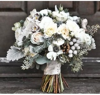 Winter #wedding bouquet