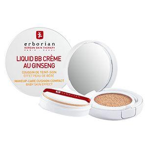 Découvrez Liquid BB Crème au ginseng Clair d'Erborian, votre cushion cream pour un teint parfait tel une peau de bébé.