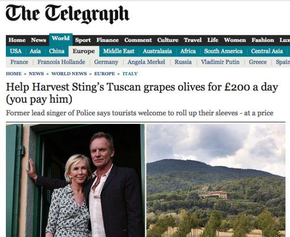 Rossi, Renzi e Sting, il turismo li vuole così… e comunque Sting tutta la vita!