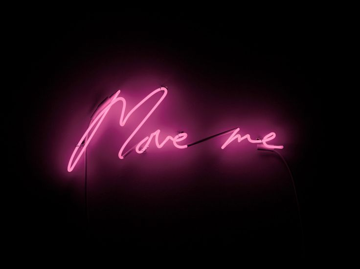 Neon Art: Move Me | From a unique collection of sculptures at https://www.1stdibs.com/art/sculptures/