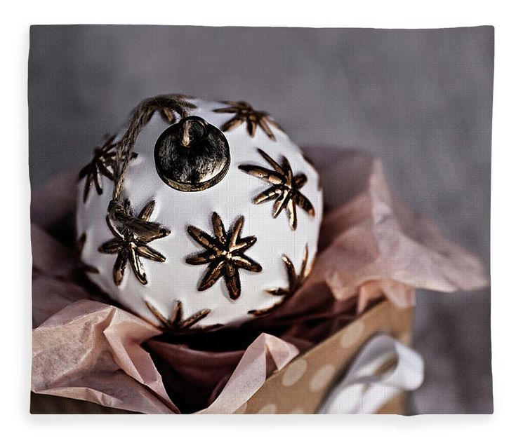 Fleece Blanket featuring the photograph Opened Gift by Evgeniya Lystsova. White Christmas Ball Sitting in the Present Box, Winter Holiday Concept. Our Luxuriously soft blankets are available in two different sizes and feature incredible artwork on the top surface. Get Your Home Holiday Ready! #Christmas #Blanket #Gifts #HomeDecor #InteriorDesign