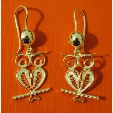 Orecchini Gufini Earrings Owls    admin@maltacraftsvillage.com