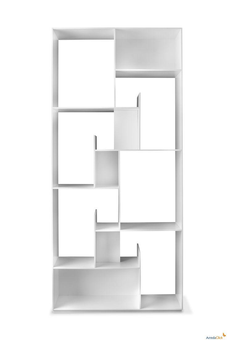 best shelves  room dividers images on pinterest  bookshelves  - modus bookcase with staggered shelves  arredaclick