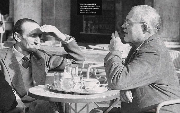 Ernest Hemingway at the Caffè #Florian a #Venezia San Marco - Florian #cafè in #Venice Saint Mark #travel #travelinspiration #italy #italia #veneto #italianalluretravel #writer #celebrities #american #literature