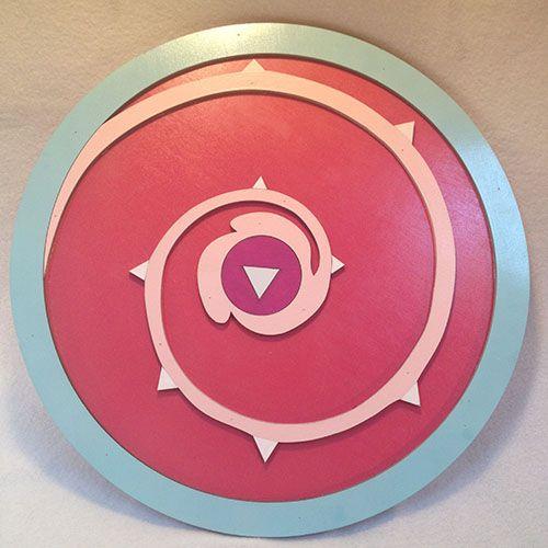 Steven Universe - Rose Quartz Shield - Cosplay sized replica. Please visit www.alltru2u.com for pricing and purchase.