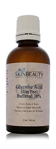 (2 oz/60 ml) GLYCOLIC Acid 70% BUFFERED -Skin Chemical Peel – – Alpha Hydroxy (AHA) For Acne, Oily Skin, Wrinkles, Blackheads, Large Pores & More (from Skin Beauty Solutions)