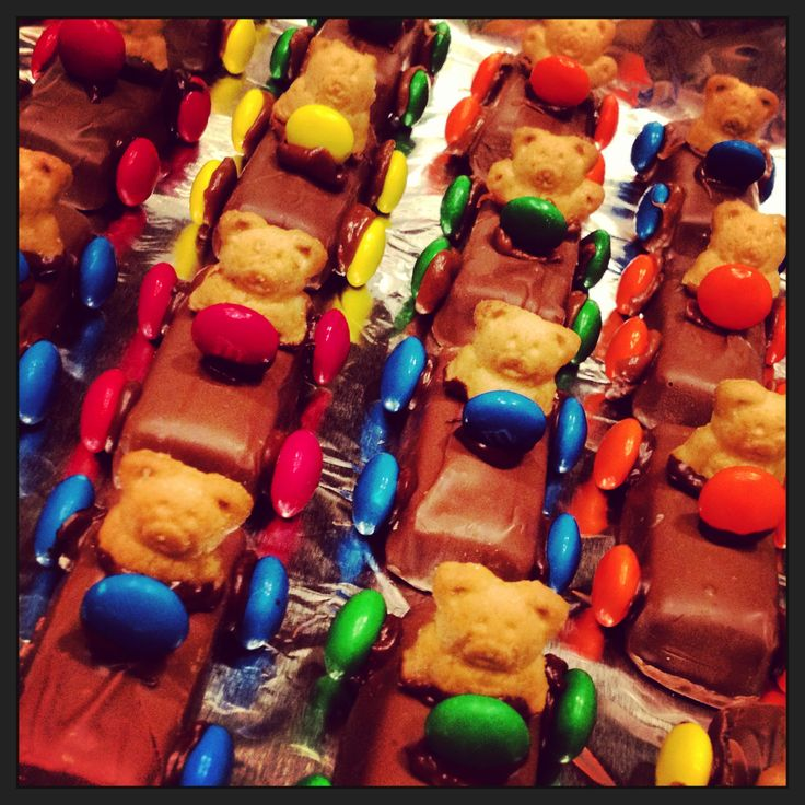Edible cars made with Mom for nephew's 3rd birthday party