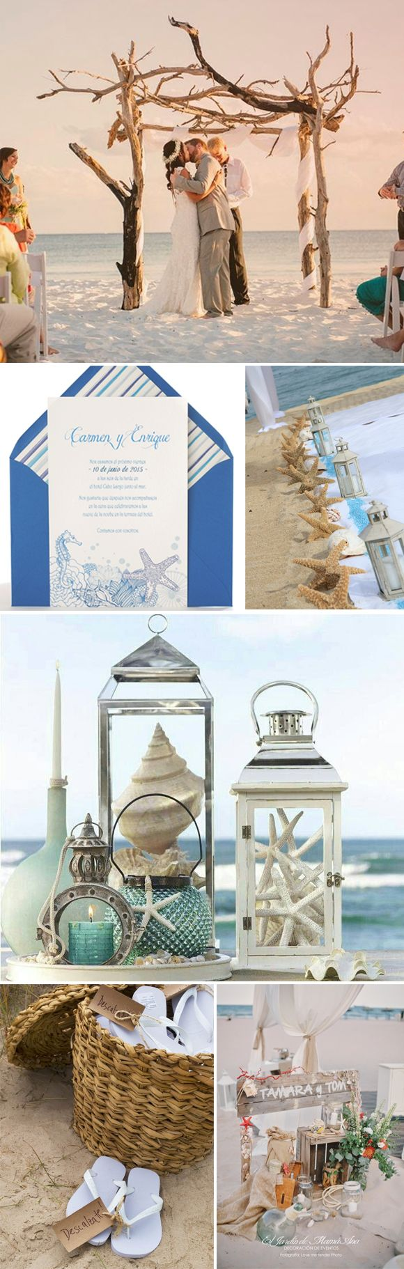 Decoracion de bodas en la playa