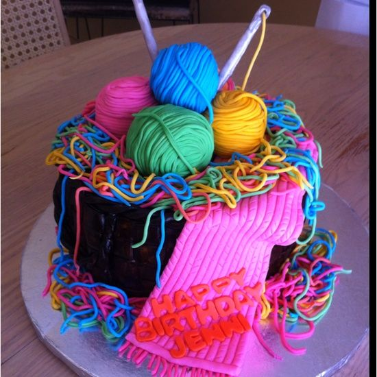 Knitting Cake Decorations : I didn t know whether to pint this under food or arts