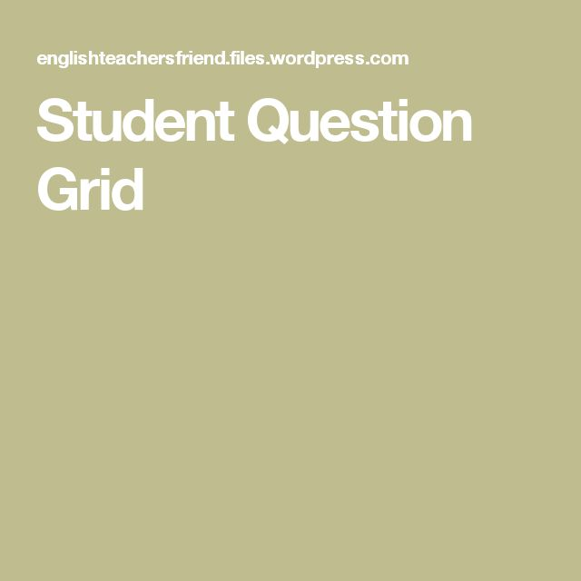 Student Question Grid