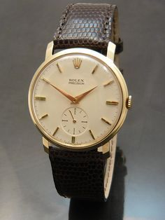 1960s 9 carat gold Rolex Precision ~ I would wear this every day, not keep it in a box. A classic masterpiece like this is meant to be worn-in!