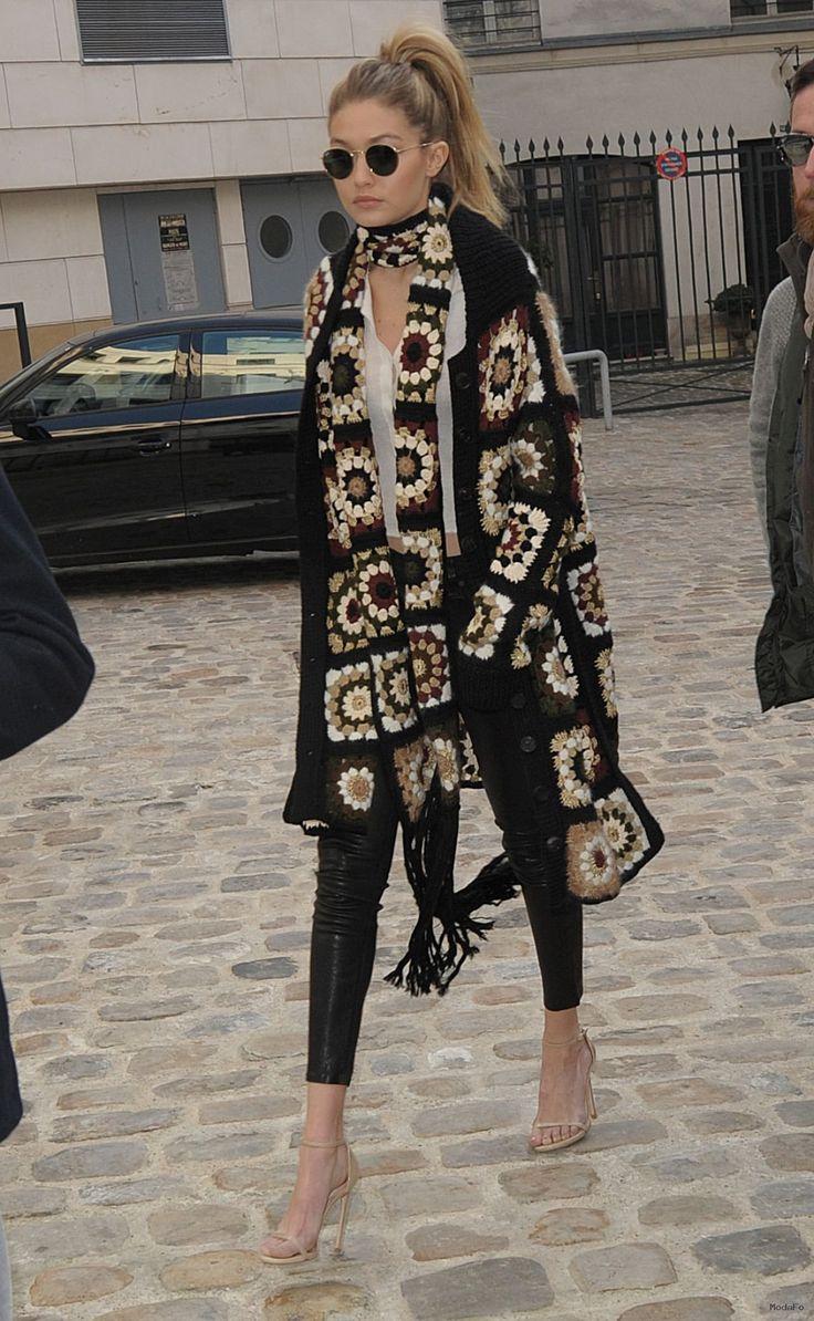 Gigi Hadid Street Fashion – Out in Paris 1/20/2016